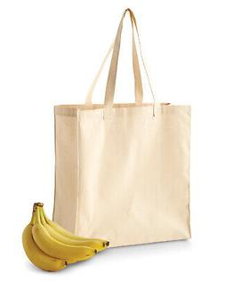 BE055 BAGedge Mens Tote Bag 6 oz. Canvas Grocery Tote NEW