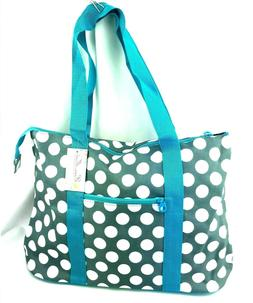 Ever Moda Geometric Utility Tote Bag Grey