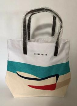 Bobbi Brown Beach Sailboat Canvas Tote Bag