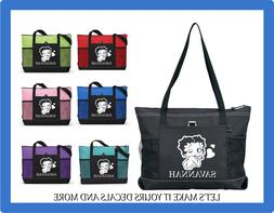 BETTY BOOP HEARTS PERSONALIZED NAME TOTE PURSE TRAVEL GYM SP