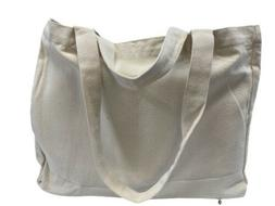 Big Organic Canvas Cotton Shopping Tote Bag With 6 Pockets I
