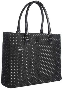 Black 15.6 Inch Nylon Women Laptop Tote Bag Handbag Briefcas