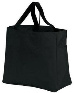 Black Canvas Tote Bag Heavy Duty Tote by Port Authority Fact