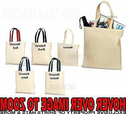 BLANK Canvas Sturdy TOTE BAG Crafts Shopping 5 COLORS Durabl