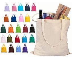 Set of 6 Blank Cotton Tote Bags Reusable 100% Cotton Reusabl