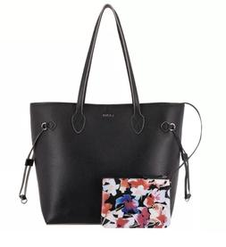 LODIS Bliss Leather Tote bag with Wristlet Black Handbag Pur