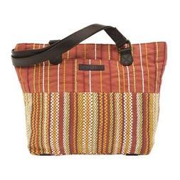 Women's Travel Tote Bag Bohemian Orange Canvas Shoulder Hand