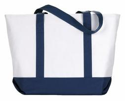 UltraClub Box Stitched Fabric Handles Polyester Zippered Poc