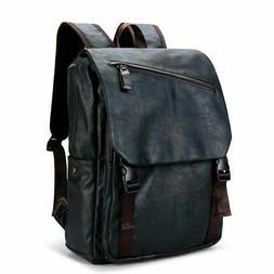 Brand Designer Men Leather Backpack Vintage Daypack Casual R