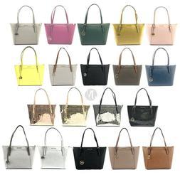 Michael Kors Ciara Leather PVC Large Top Zip Tote Bag Handba