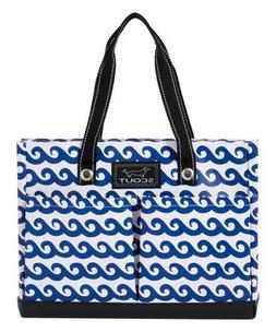 SCOUT brand UPTOWN GIRL pocket tote bag, channel surfer prin