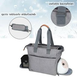 Luxja Breast Pump Tote with Pockets for Laptop and Cooler Ba