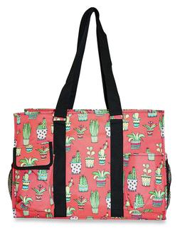 Cactus Womens Utility Large Canvas Tote Bag for Travel Shopp