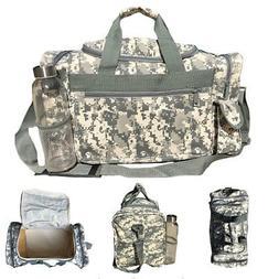 Camo Camouflage Army Duffle Duffel Bags Military Acu Sports