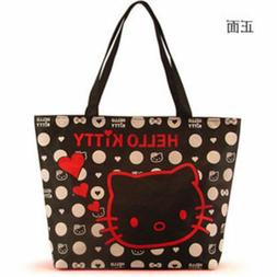 Hello kitty Canvas Bag Tote Bag Purse for girls 2 colors -FR