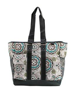 Canvas Garden View Floral NGIL Zippered Caddy Organizer Tote