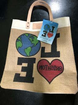 BRIGHTON Canvas Leather Tote Bag- Love The Earth Tote