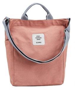 Dreubea Canvas Womens Casual Tote Bags Crossbody Hobo Bag Wi