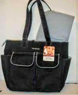 Carters  Everyday Tote Bag/ Diaper Bag.Black & gray.multiple