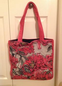 Casual Women Floral Large Capacity Tote Canvas Shoulder Bag