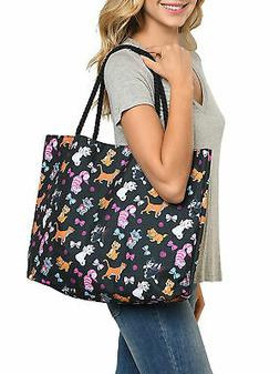 Disney Cats Tote Bag Travel Beach Carry-on Cheshire Aristoca