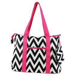 Ever Moda Chevron Printed Extra Large Tote Bag with Coin Pur