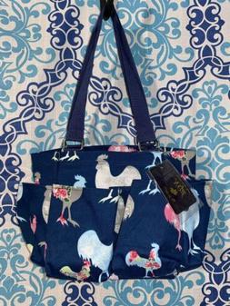 NGIL Chicken Theme Small Zippered canvas purse Caddy Organiz