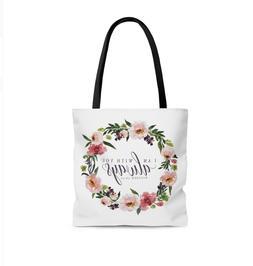 Christian Bible Tote Bag | Bible Verse Tote Bag | Faith Tote