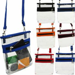 2 Pocket Clear Crossbody Shoulder Bag Stadium Approved NFL T