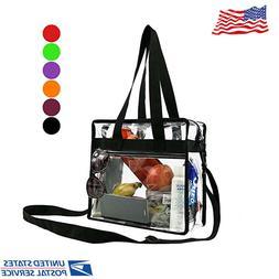 Clear Hand Shoulder Women Bag, Travel & Gym Vinyl Zippered T