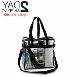 Clear Plastic Tote Bag Shoulder Handbag Purse Travel Work Sc