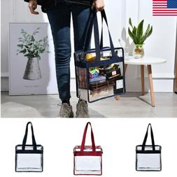 Clear Plastic Tote Bag Women Transparent PVC Sport Stadium S