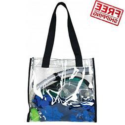 Clear Plastic Tote Bag Women Transparent PVC Sport Stadium A