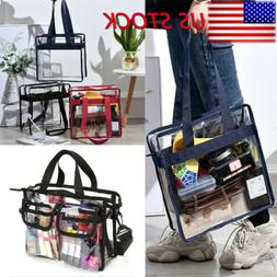 Clear Tote Bag Crystal PVC Transparent Bags Women Fashion Ha