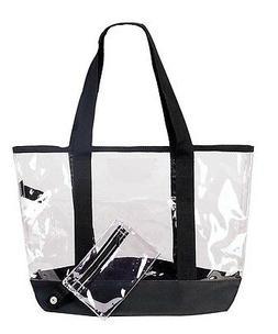 DALIX Clear Tote Bag Large Travel Handbag Bulk Wholesale Ava