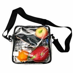 Clear Tote Bag NFL Stadium Approved Transparent PVC Crossbod