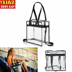 Clear Tote Bag Shoulder Straps Large Transparent Purse Stron