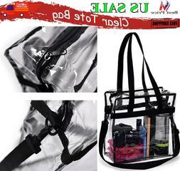 Clear Tote Bag Transparent Handbag Shoulder Backpack Purse N