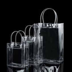 Clear Tote Bag Transparent Plastic Purse Shoulder Handbag St