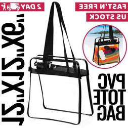 Clear Tote Stadium Bags Purse Plastic Transparent Handbags N