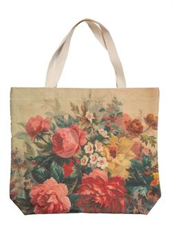 Victorian Trading Co NWD Pink Roses Nature's Book Tote Bag C