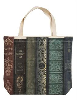 Victorian Trading Co Old Book Tote Bag Canvas