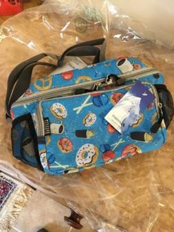 Everest Cooler/Lunch Pattern Bag Travel Tote, Donuts, One Si