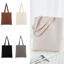 Cotton Blend Tote Bag Neutral Perfect For Shopping School Pl