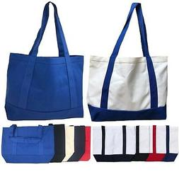 Cotton Canvas Reusable Grocery Shopping Kitchen Beach Tote B