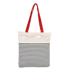 Cotton Canvas Tote Bag with Inner Pocket Adorable Large Tote