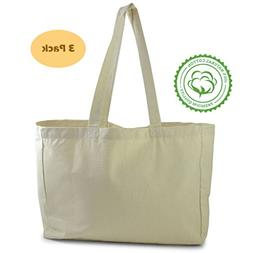 Natural Cotton Plain Canvas Tote Bag  perfect for kids Hallo