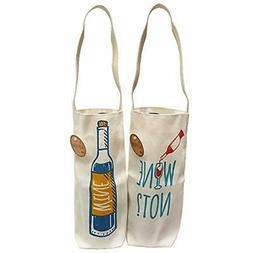Cotton Reusable Grocery Bags Canvas Wine Gift Tote Made The