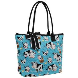 Cow In Town NGIL® Quilted Large Ribbon Tote Bag
