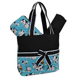 Cow in Town NGIL Quilted 3pc Diaper Bag
